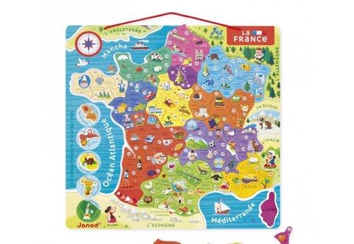 carte france puzzle bois janod :