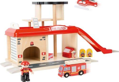 caserne pompier jouet bois legler
