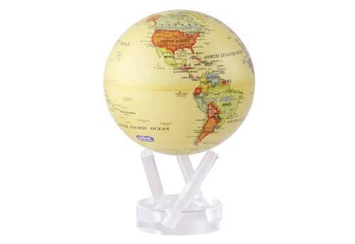 globe terrestre MOVA jaune