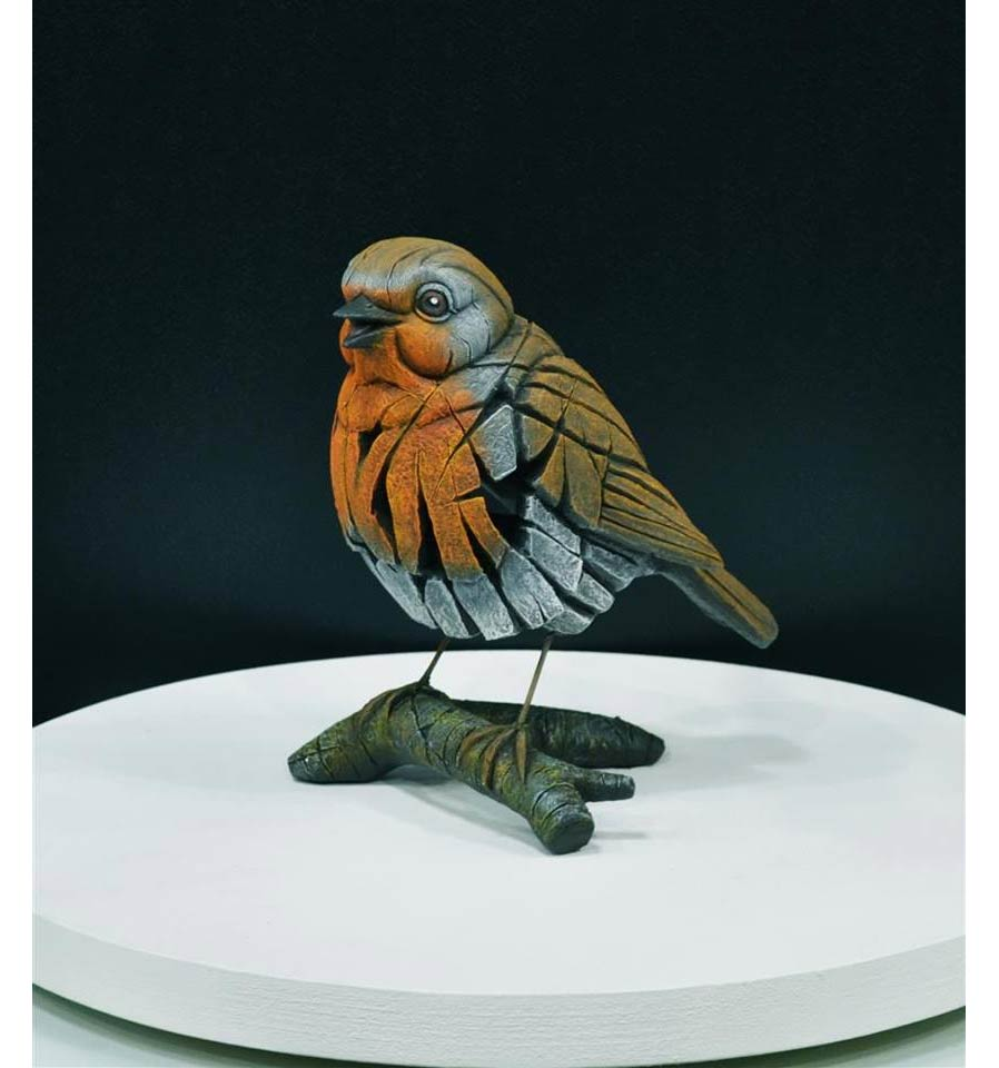 Edge sculpture, oiseau sur branche