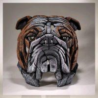 Buste de bouledogue, réalisé par Edge sculpture- Ref EDB13