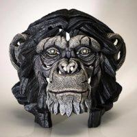 Buste de chimpanzé, réalisé par Edge sculpture- Ref EDB12