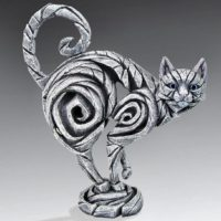 Chat blanc, réalisé par Edge sculpture- Ref ED10