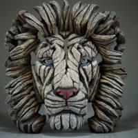 Buste de lion blanc, réalisé par Edge sculpture- Ref EDB09W