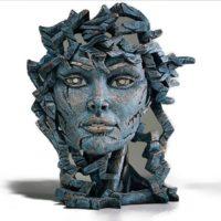 Buste de Vénus, couleur sarcelle, Edge sculpture, réf EDB03T