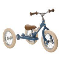 Draisienne bleue, de marque trybike, évolutive en tricycle. A partir de 15 mois