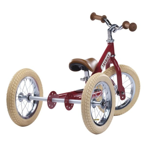 Draisienne rouge + kit tricycle de marque Trybike