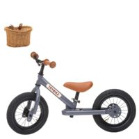 Draisienne Trybike gris anthracite, avec panier