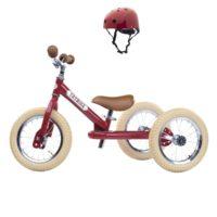 Vélo enfant : draisienne + kit tricycle + casque. Pour les enfants à partir de 15 mois