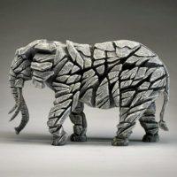 élephant blanc par edge sculpture, référence ED04W
