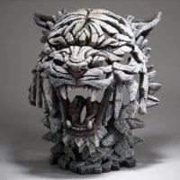 Tigre blanc de Sibérie réalisé pas Edge sculpture, référence edb02w