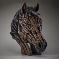 buste de cheval Palomino - edge sculpture - ref edb18p
