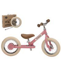 Draisienne rose avec kit tricycle pour enfants à partir de 15 mois