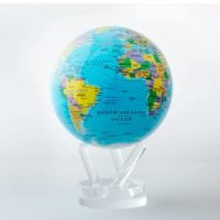 Globe Mova, couleur bleu, carte politique