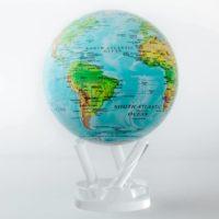 Globe Mova, carte des reliefs
