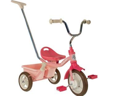 Tricycle fille, de 2 ans à 5 ans, couleur rose. marque Italtrike