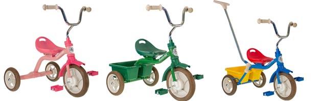 3 modèles de tricycle Italtrike sont disponibles à la vente