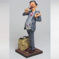 Cadeau pour amateur de vin, figurine humoristique